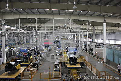 Internal of the assembly plant Editorial Photography