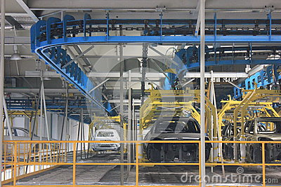 Internal of the assembly plant Editorial Stock Photo