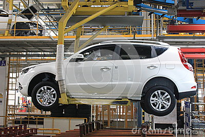 Internal of the assembly plant Editorial Stock Image