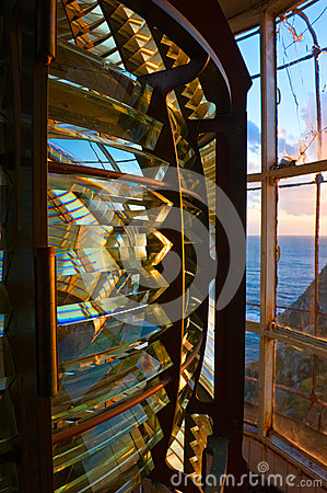 Internal structure of the lighthouse.