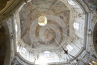 The church of St. Nicholas in Prague Editorial Stock Image