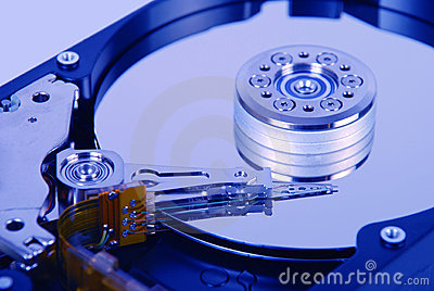 Internal view of hard disk