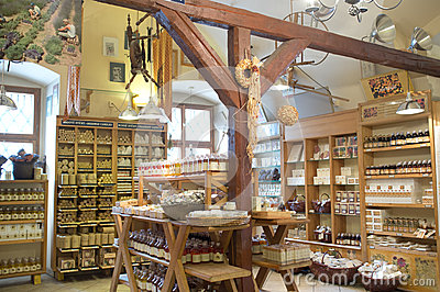 Shop for organic products in Prague Editorial Stock Image