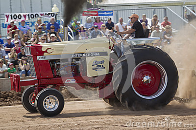International 1066 tractor and smoke Editorial Stock Image