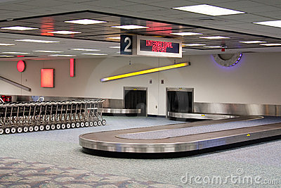 International Airport Baggage Claim Carousel