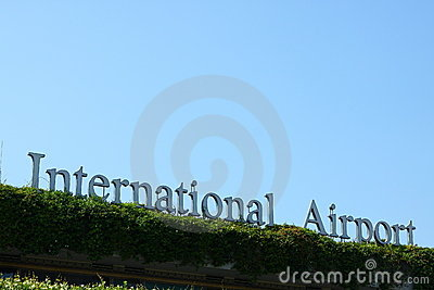 International Airport Sign