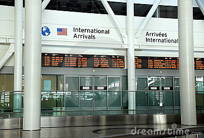 International Arrivals Editorial Stock Photo