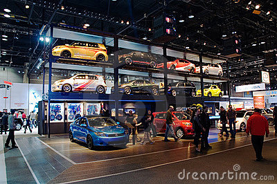 International auto-show in Chicago Editorial Photography