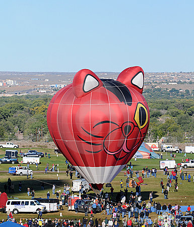 International Balloon Fiesta in Albuquerque, NM Editorial Stock Photo