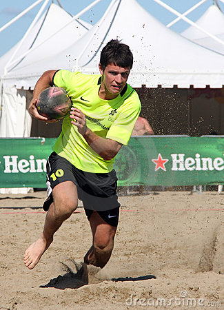 INTERNATIONAL BEACH RUGBY - CZECH REP. Editorial Photo