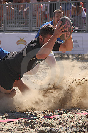 INTERNATIONAL BEACH RUGBY - NEW ZEALAND Editorial Photo