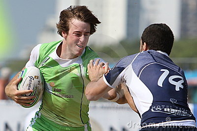 International Beach Rugby Tournament Editorial Stock Image