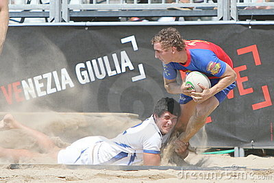 International Beach Rugby Tournament Editorial Photo