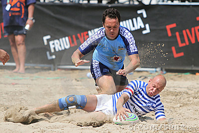 International Beach Rugby Tournament Editorial Stock Photo