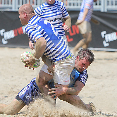 International Beach Rugby Tournament Editorial Photography