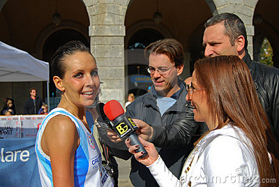 International Bergamo marathon Editorial Photo