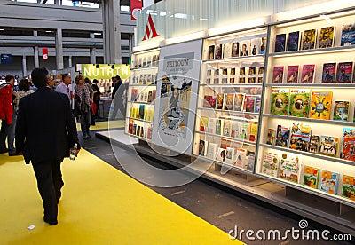 International Book Fair (Salone del Libro) Turin Editorial Stock Photo