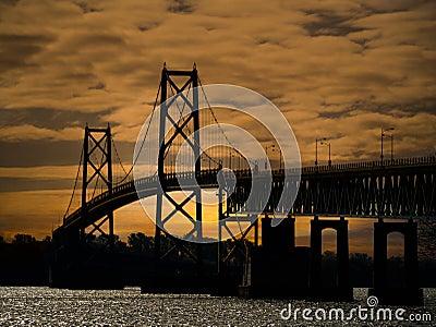 International Bridge between Canada and US