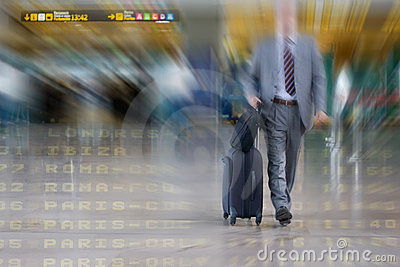 International Business man in the Airport