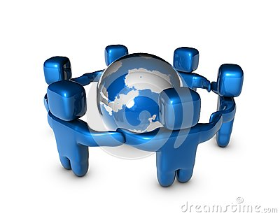 International business team concept abstract illustration