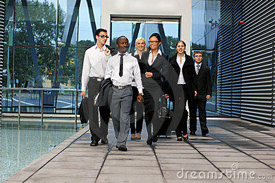 A international business team in formal clothes