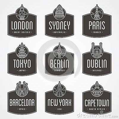 International city badges