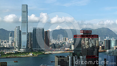 International Commerce Centre - EDITORIAL USE Editorial Stock Photo