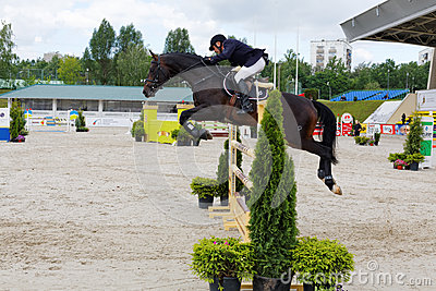 International competitions in show jumping CSI3 Vivat Editorial Photography