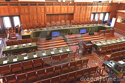 International Court of Justice Great Hall Editorial Image
