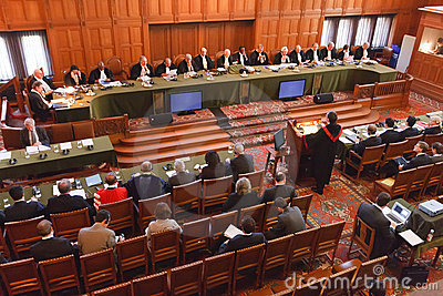International Court of Justice ( ICJ ) Great Hall  Editorial Photography