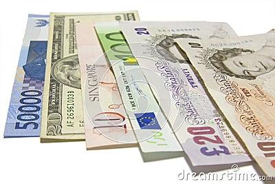 International Currencies Editorial Photo