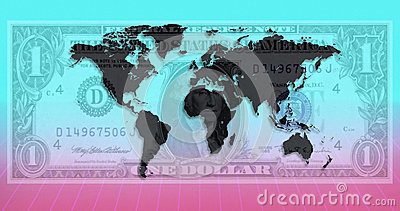 International Currency - World Map - US Dollar