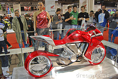 International cycle and motorcycle exhibition Editorial Stock Photo
