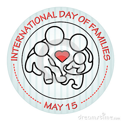 Free International Day Of Families. May 15. Family Icon. Royalty Free Stock Images - 91548669