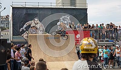 International Festival Sport around Pacific Open. Editorial Stock Photo