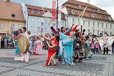 International Festival of Street Theater Editorial Stock Photo
