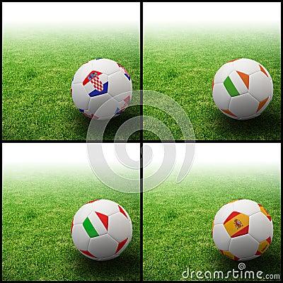 International flag on 3d football