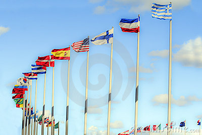 International flags.