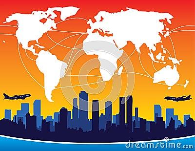 International Flight Routes