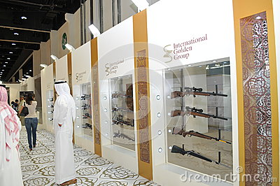 International Golden Group at Abu Dhabi International Hunting and Equestrian Exhibition 2013 Editorial Stock Image