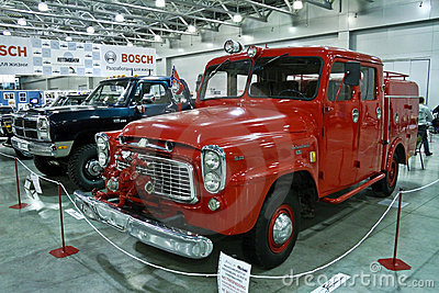International Harvester Fire Engine 1960 Editorial Stock Photo