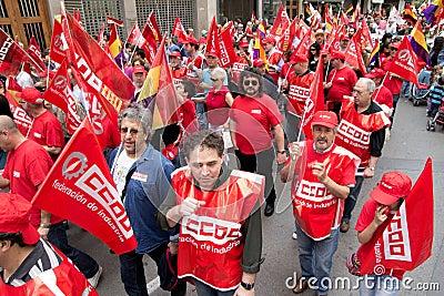 International Labor Day Demonstrations Editorial Photo
