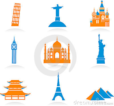 International landmark icons