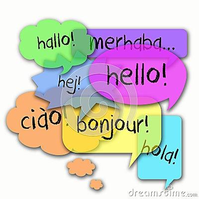 Free International Languages Hello Stock Photo - 45434660