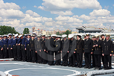 International Maritime Defence Show in St. Petersb Editorial Photography