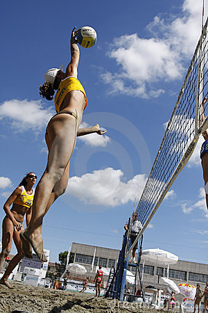 Free International Master Beachvolley Series 2008 Stock Photography - 9030572