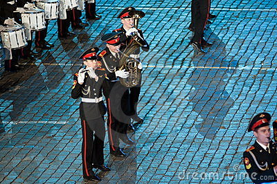 The international military-musical festival Editorial Stock Image