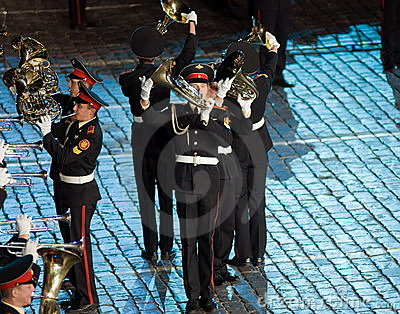 The international military-musical festival Editorial Stock Photo
