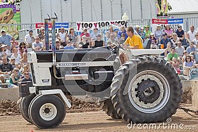 International Mr. Black Tractor Up Close Editorial Stock Photo
