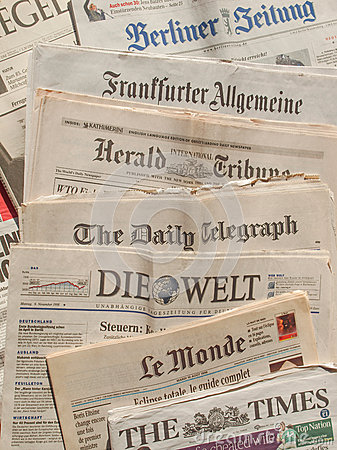 International newspaper Editorial Photo